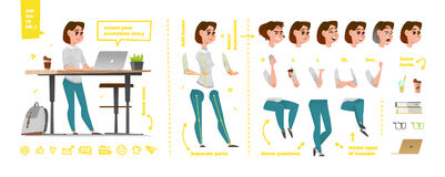Stylized characters set for animation. Stock Images