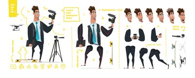 Stylized characters set for animation. Stock Image