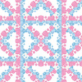 Stylized Check Floral Pattern Background Stock Images