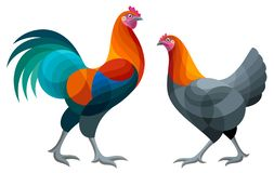 Free Stylized Chickens - Vector Illustration Royalty Free Stock Photography - 145772407