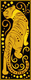 Stylized Chinese horoscope black and gold - tiger Stock Photos