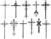 Stylized christian cross Royalty Free Stock Images