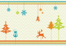 Stylized Christmas Background Stock Photography