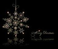 Stylized christmas ball on black card. Vector Stock Photo