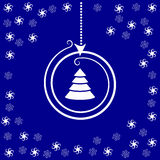 Stylized Christmas ball and stars Stock Images