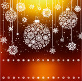 Stylized Christmas Balls, Background. EPS 8 Stock Images