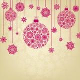 Stylized Christmas Balls. EPS 8 Royalty Free Stock Photography