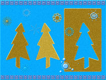 Stylized Christmas card Royalty Free Stock Images