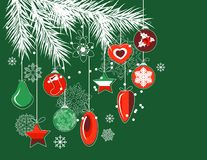 Stylized Christmas decorations Stock Images