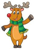 Stylized Christmas deer theme image 1 Stock Image
