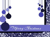 Stylized Christmas greeting card in blue tones Stock Photography