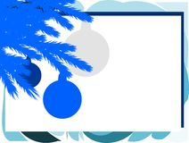 Stylized Christmas greeting card in blue tones Stock Images