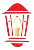 Stylized Christmas lantern Royalty Free Stock Photography