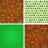 Stylized Christmas patterns set Stock Image