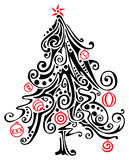 Stylized Christmas tree. Vector illustration Royalty Free Stock Photo
