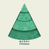 Stylized Christmas tree Royalty Free Stock Photos