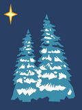 Stylized Christmas tree royalty free illustration