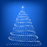 Stylized Christmas tree Royalty Free Stock Photo
