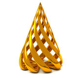 Stylized Christmas tree 3d Stock Image