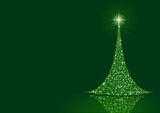 Stylized Christmas tree background Stock Images