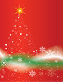 Stylized Christmas Tree Background Stock Photography
