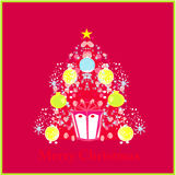 Stylized christmas tree card Royalty Free Stock Photography