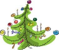 Stylized Christmas tree. Cartoon,  on white Stock Photography