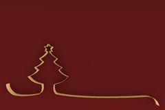 Stylized Christmas tree on colored background. 3d illustration Stylized Christmas tree on colored background Royalty Free Stock Image