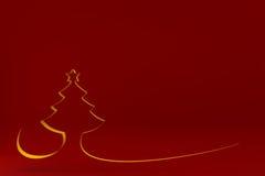 Stylized Christmas tree on colored background. 3d illustration Stylized Christmas tree on colored background Stock Photography