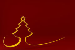 Stylized Christmas tree on colored background Royalty Free Stock Photos