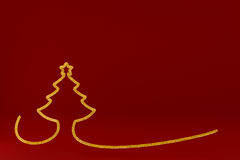 Stylized Christmas tree on colored background. 3d illustration Stylized Christmas tree on colored background Royalty Free Stock Images