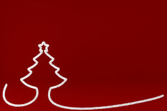 Stylized Christmas tree on colored background Stock Images