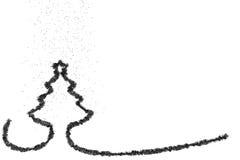 Stylized Christmas tree on colored background. 3d illustration Stylized Christmas tree on colored background Royalty Free Stock Photo