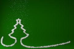 Stylized Christmas tree on colored background Royalty Free Stock Photography