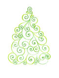 Stylized Christmas tree with colorful ornaments Royalty Free Stock Photo