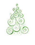 Stylized Christmas tree with colorful ornaments Royalty Free Stock Photography