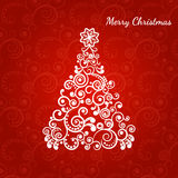 Stylized Christmas tree, the curl ornament Royalty Free Stock Image