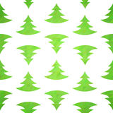 Stylized christmas tree decorative seamless pattern Stock Photo