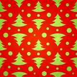 Stylized christmas tree decorative seamless pattern. On geometric triangle background Royalty Free Stock Photography