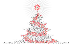 Stylized Christmas Tree Design Illustartion Royalty Free Stock Image