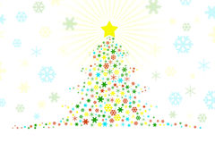 Stylized Christmas Tree Design Illustration Stock Images