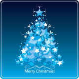 Stylized Christmas tree, greetings card Stock Photos