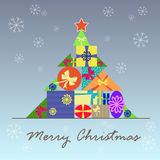 Stylized Christmas tree for the holiday Stock Image