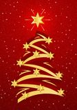 Stylized Christmas Tree Illustation Stock Photography