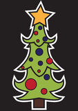 Stylized Christmas tree Royalty Free Stock Photography