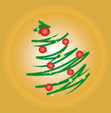 Stylized Christmas Tree Stock Images