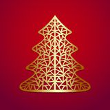 Stylized Christmas tree.Vector illustration. Stock Photography