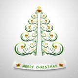 Stylized Christmas tree. Vector illustration. Trendy Christmas tree for design. stock illustration