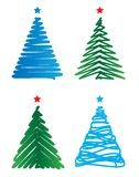 Stylized Christmas trees Royalty Free Stock Photos