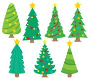 Stylized Christmas trees collection 1 Royalty Free Stock Photo